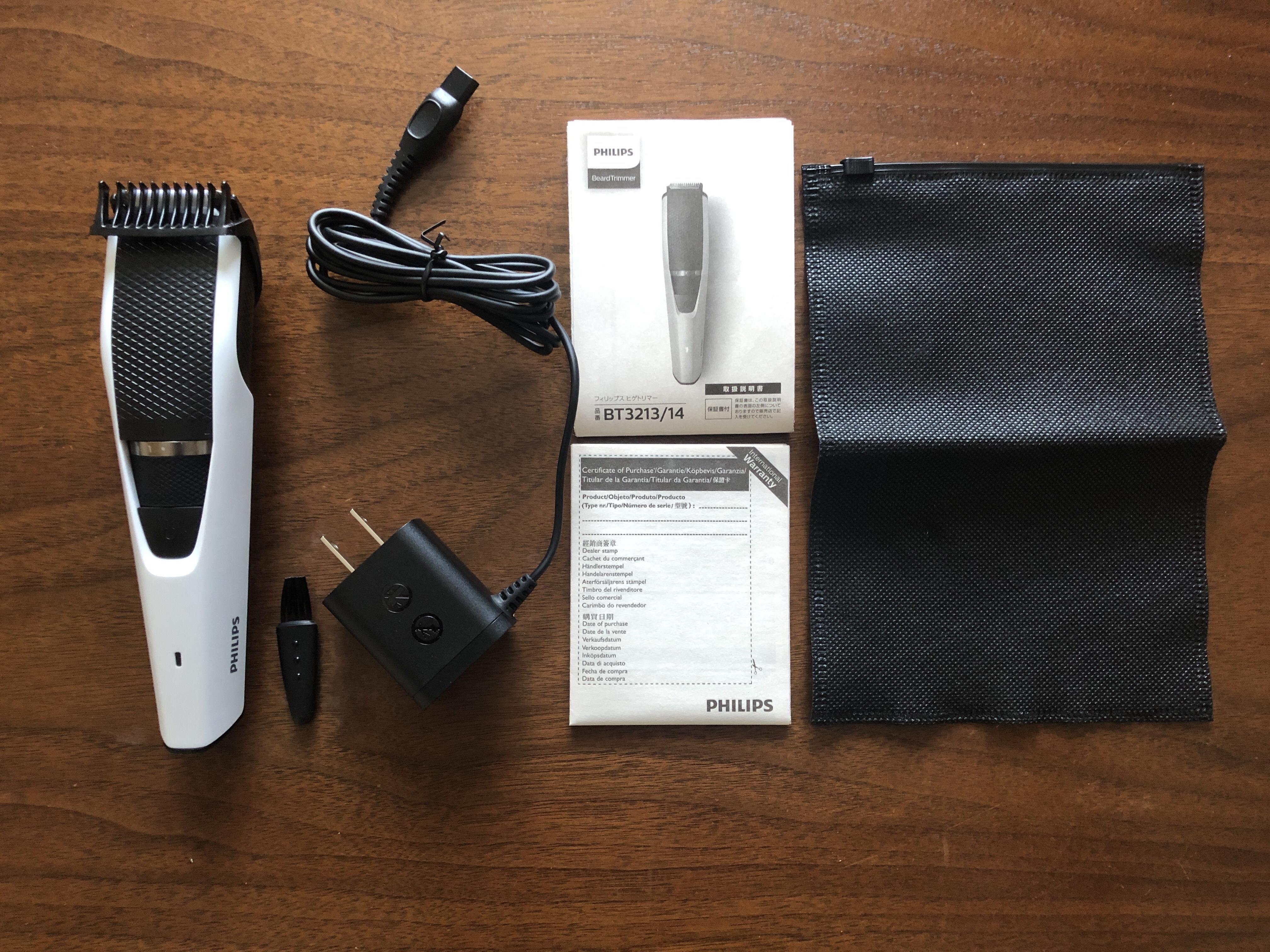 【髭トリマー Philips BT3213/14レビュー】 0.5〜10mmまで20段階調節で細かな髭デザインが出来るコンパクト髭トリマー